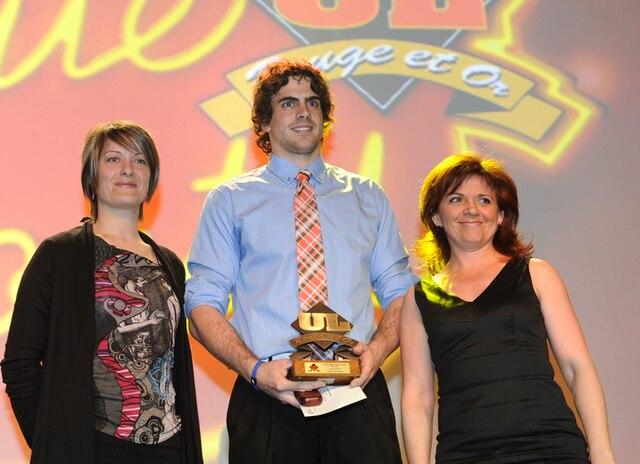 61e Gala du Mérite sportif Rouge et Or de l'Université Laval mardi le 10 Avril 2012 a Quebec. Gagnant du prix Etudiant Athlete Sport Collectif, Karl De Grandpré en Volleyball.SIMON CLARK/JOURNAL DE QUEBEC/AGENCE QMI