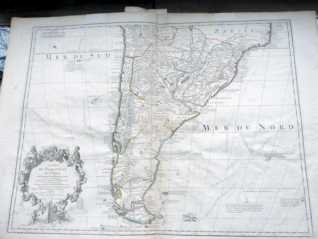 Carte du Chili, datée de 1703.