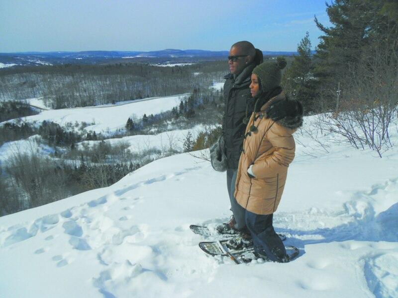 La montagne coup e en raquettes le journal de montr al - Montagne coupee ski de fond ...