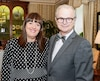 On voit ici l'éditrice du Journal de Québec, Louise Cordeau, en compagnie d'Albert Ladouceur, en mai 2014 à l'hôtel de Ville de Québec. Notre chroniqueur était alors honoré pour la publication de son livre Déjoué par le cancer.