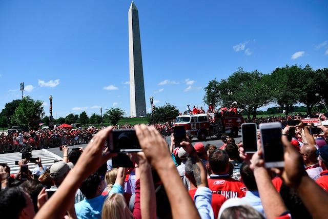 La fameuse parade de la Coupe Stanley avait lieu mardi, dans la capitale des États-Unis.