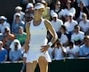 Eugenie Bouchard of Canada reacts during her match against Ying-Ying Duan of China at the Wimbledon Tennis Championships in London