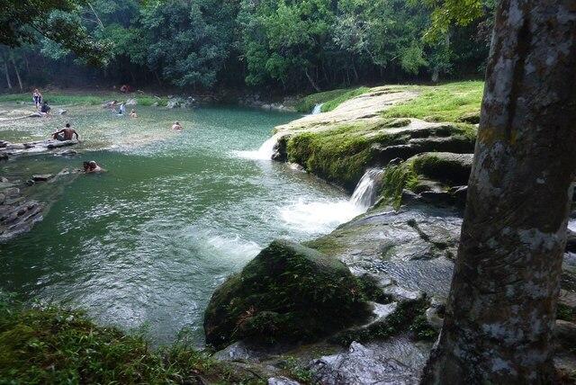 Les cascades de la rivière San Juan sont tout à fait rafraîchissantes.