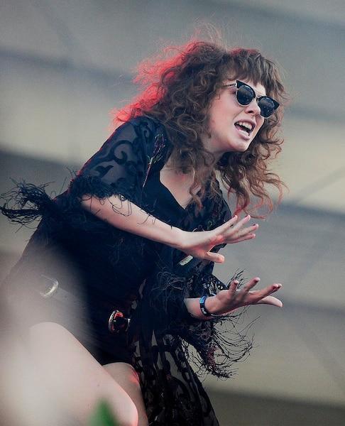 Grace Mitchell en spectacle sur la scène Bell du Festival d'été de Québec avant le spectacle de Pink, le 08 juillet 2017.