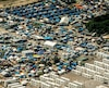 Vue aérienne du camp de migrants de Calais, en août 2016.
