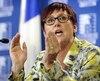 La présidente de la Fédération des syndicats de l'enseignement., Josée Scalabrini.