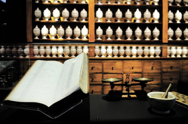 Les apothicaires ont précédé les pharmaciens. Ils étaient considérés comme lesgardiens des poisons, gardés dans des pots et destinés à faire des médicaments.