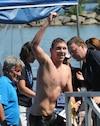 « Décrocher la victoire ici, c'est pas mal bon », a soutenu Trent Grimsey, vainqueur de la Traversée internationale du lac Saint-Jean.