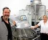 David Roby de Solutions KPI et la présidente de L'Amour du pain Evelyn Trempe sont les responsables de la transition moderne de la boulangerie.