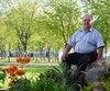 Cyrille Girouard, 71 ans, est propriétaire du Camping Sainte-Madeleine depuis 1977. Pour lui, la proximité avec l'autoroute est un avantage.