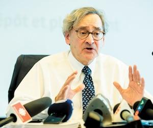 Michael Sabia, président et chef de la direction de la Caisse de dépôt et placement du Québec, lors de la présentation des résultats financiers le 21 février dernier.