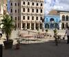 La plaza de Vieja était déserte, hier.