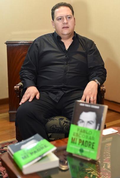 Juan Pablo Escobar, le fils du magnat de la drogue, au moment du lancement du livre Pablo Escobar: mon père.