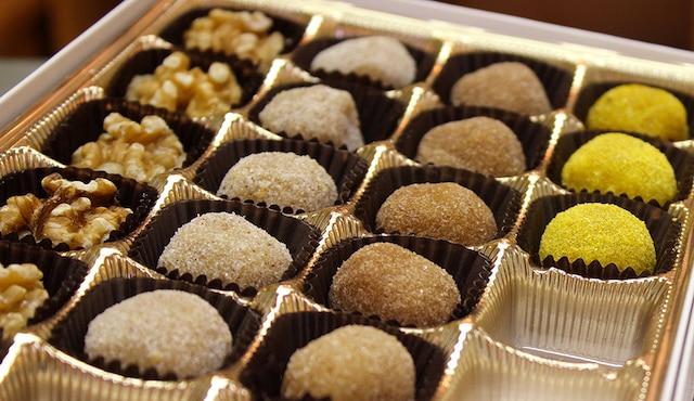Les truffes à la pâte de noix de Tessier dit Lavigne, à Laval.