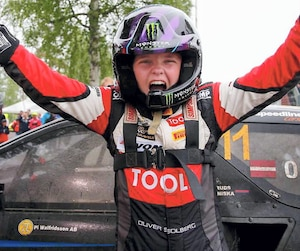 Âgé de 15 ans, Oliver Solberg participera au prochain Grand Prix de Trois-Rivières, tout comme son illustre père Petter.
