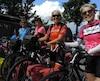 Hélène Jacques, 58 ans, Mona Hébert, 61 ans, Johanne Bujold, 63 ans et Nicole Bourque, 66 ans, étaient en pleine forme à leur arrivée, malgré tous les kilomètres parcourus ces derniers mois.