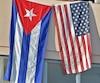 Bloc Drapeau américain États-Unis Cuba