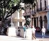 Le Prado et ses lions en bronze.