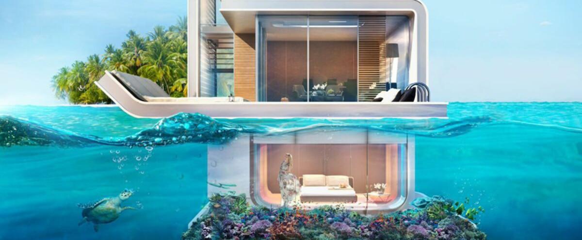 Cette maison flottante futuriste est à moitié submergée et permet ...