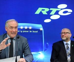 Le président du RTC, Rémy Normand, et le maire de Saint-Augustin, Sylvain Juneau