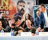 Debout, Simon Kean a échangé des «politesses» d'avant-combat avec Adam Braidwood.
