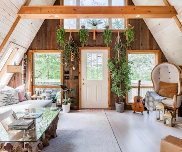 Une jolie maison en «A» où se réfugier entre amis