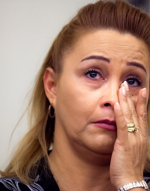 Lilian Maribel Madrid, la mère de Fredy Villanueva, n'a pas caché ses émotions au dépôt du rapport d'enquête du coroner, hier.