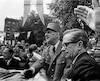 De Gaulle en compagnie du premier ministre du Québec, Daniel Johnson