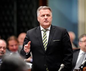 Le ministre des Transports Laurent Lessard.