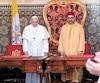 Le pape François et le roi Mohammed VI du Maroc au Palais Royal de Rabat le 30 mars dernier.