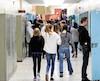 Le nombre d'élèves du secondaire qui accèdent au cégep fluctue selon qu'ils fréquentent une école publique ou privée. Sur cette photo (à titre illustratif), des élèves d'une école secondaire de l'Estrie.