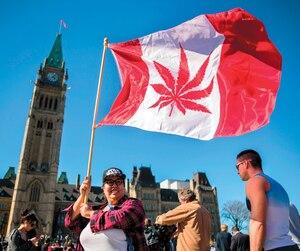 Cette militante favorable à la légalisation du cannabis avait fait connaître ses couleurs sur la Colline Parlementaire, à Ottawa, en avril dernier, à l'occasion de la Journée internationale de la marijuana.