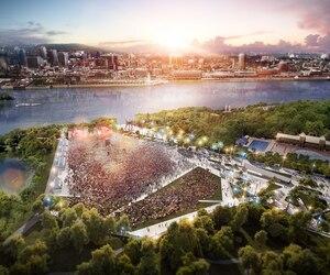 L'amphithéâtre de l'île Sainte-Hélène pourra accueillir environ 65 000 personnes pour des évènements d'envergure au parc Jean-Drapeau.