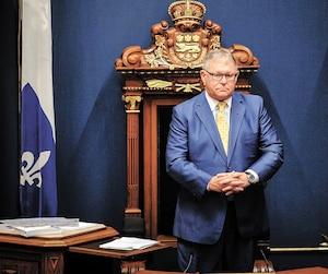 Le président de l'Assemblée nationale regrette avoir fait référence «aux petites culottes» d'un journaliste en pleine mêlée de presse.