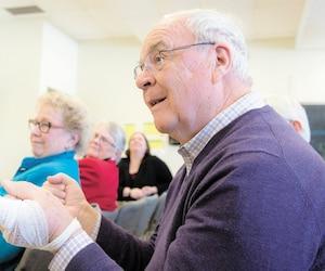 Richard Biernat a fait 170 km de route le doigt blessé afin de se faire soigner à l'hôpital St. Mary's de Montréal.