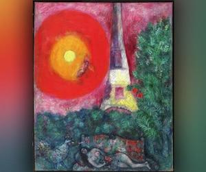 Le tableau «La tour Eiffel» de Marc Chagall
