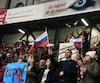 Pendant quelques minutes, Rouyn-Noranda a encouragé la Russie.