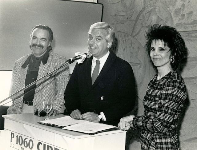 Patrick Zabé, Pierre Lalonde et Renée Claude, 21 mars 1988 PHOTO SERGE LAPOINTE / LES ARCHIVES / LE JOURNAL DE QUEBEC