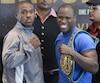 Adonis Stevenson (à droite) s'attend à un combat haut en couleur contre Thomas Williams fils (à gauche) vendredi soir au Centre Vidéotron. Son adversaire, lui, n'en démord pas: il est persuadé qu'il quittera Québec avec la ceinture de champion du monde des mi-lourds de la WBC.