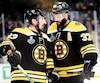 Brad Marchand et Patrice Bergeron font partie des quatre joueurs des Bruins qui ont disputé le septième match de la finale de la Coupe Stanley de 2011. Le gardien Tuukka Rask était alors l'auxiliaire de Tim Thomas et n'avait donc pas été utilisé.