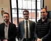 Serge Morin, président de Lanterne Digitale, Patrick Sauvageau, président-directeur général de Zilia, puis Jean Le Bouthillier et Guy Veilleux, respectivement président et chef de la commercialisation chez Qohash, participent à la mission économique à Philadelphie.