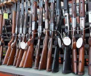 Armes d'occasions en vitrine
