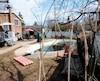 La piscine familiale dans laquelle estdécédé l'enfant de cinq ans, lundi, à Pierrefonds.