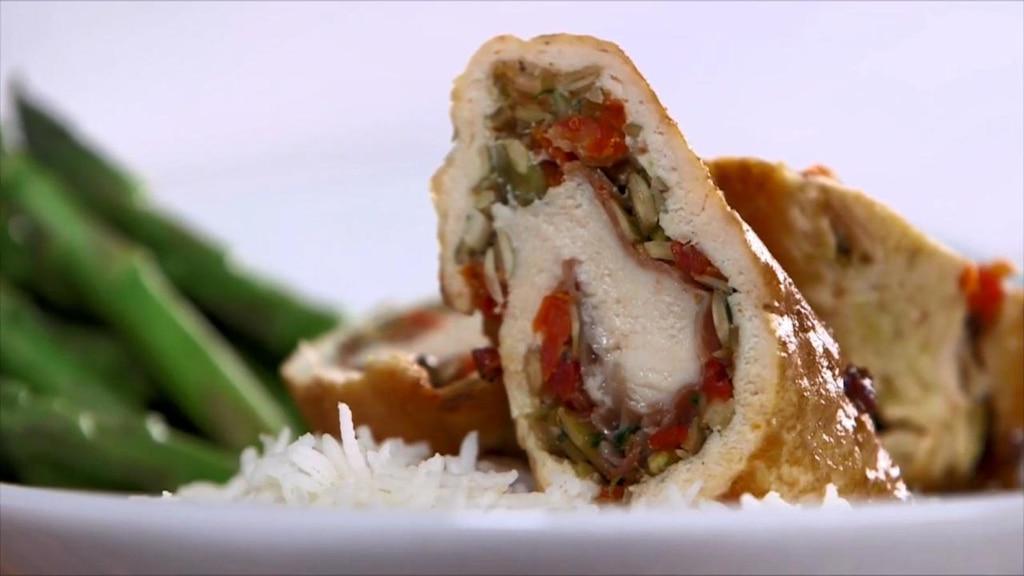 Roulade de poulet au jambon cru