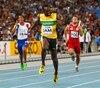 Usain Bolt lors des derniers championnats du monde d'athlétisme.