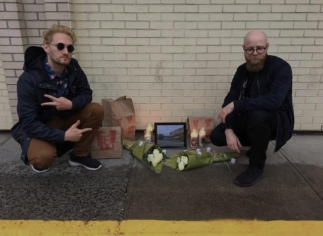 <b>Mathieu Leblanc</b> (gauche) et <b>Ludauvick Geoffroy</b> (droite), deux passionnés du PFK complètement inconsolables