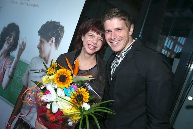 L'actrice Gabrielle Marion Rivard et l'acteur Alexandre Landry.
