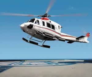 Seize hélicoptères multifonctions Bell 412EPI (photo) devaient être entièrement construits dans l'usine de Mirabel.