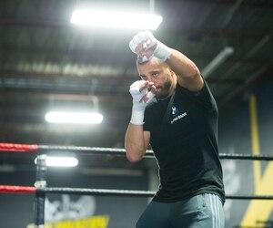 David Lemieux, photographié à l'occasion d'un entraînement médiatique à Montréal le mois dernier, croit qu'il n'aura aucun problème à respecter la limite de poids fixée à 160lb.