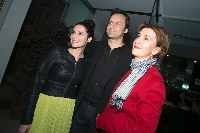 Les actrices Mélissa Desormeaux- Poulin, Isabelle Vincent et l'acteur Benoît Gouin.